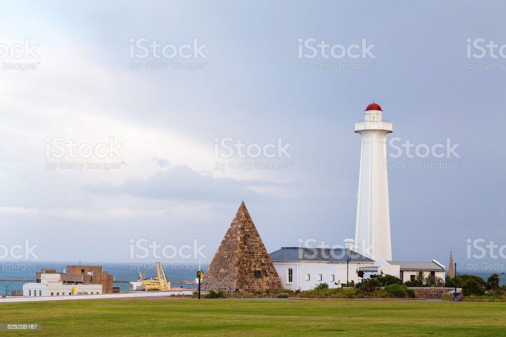Nelson Mandela Bay Lighthouse in Port Elizabeth stock photo