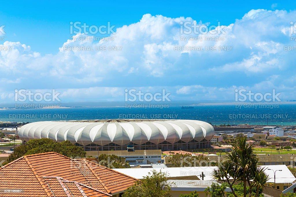 Nelson Mandela Bay Stadium in Port Elizabeth stock photo