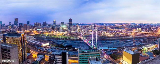 Nelson Mandela Bridge Evening Panoramic In South Africa ...