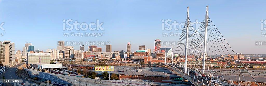 Nelson Mandela Bridge Panoramic stock photo