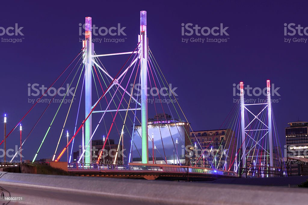 Nelson Mandela Bridge royalty-free stock photo