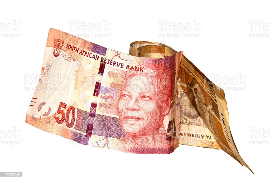 Nelson Mandela Fifty Rand South African Bank Note stock photo