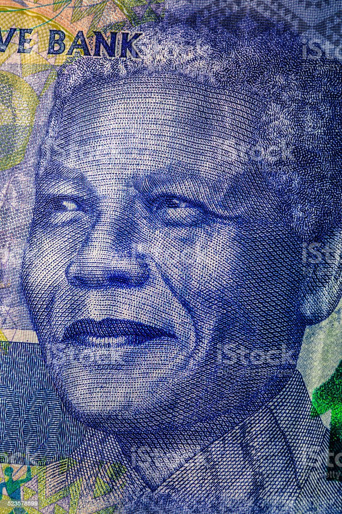 Nelson Mandela Hundred Rand Note stock photo