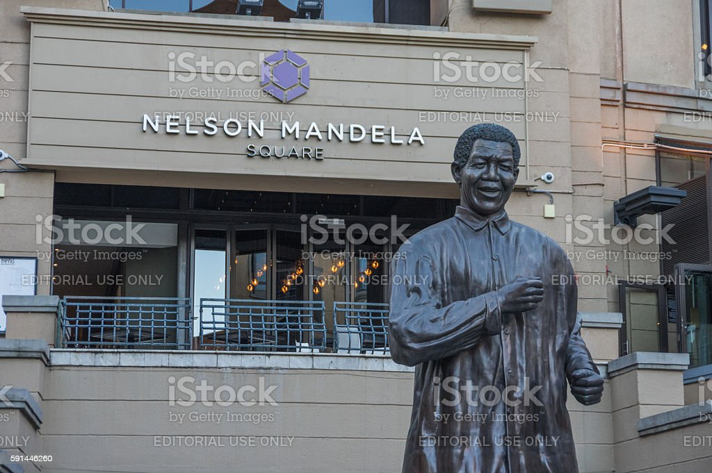 Nelson Mandela Square stock photo