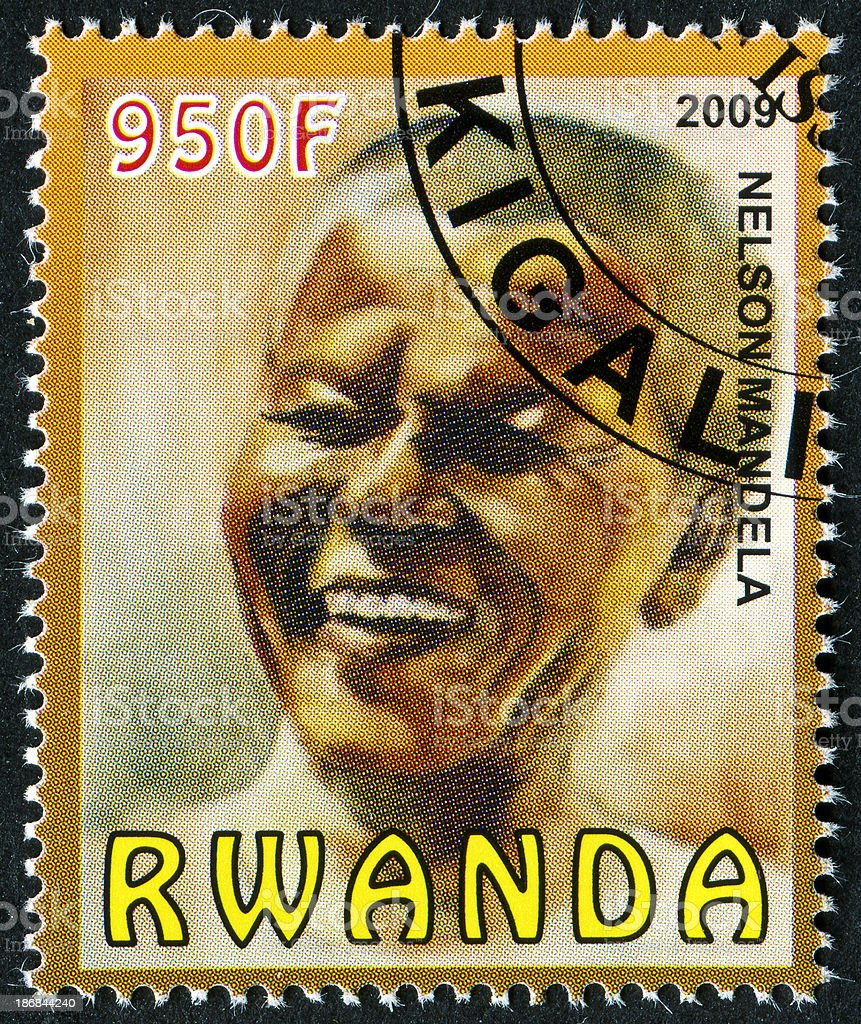 Nelson Mandela Stamp stock photo