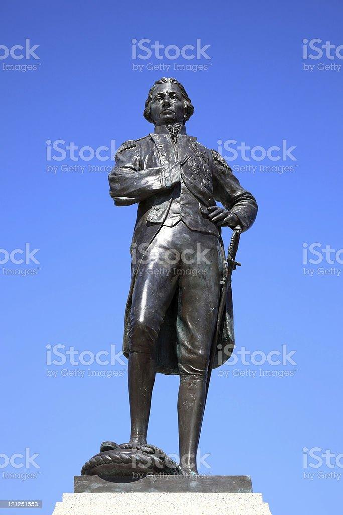 Nelson Memorial Statue Portsmouth stock photo