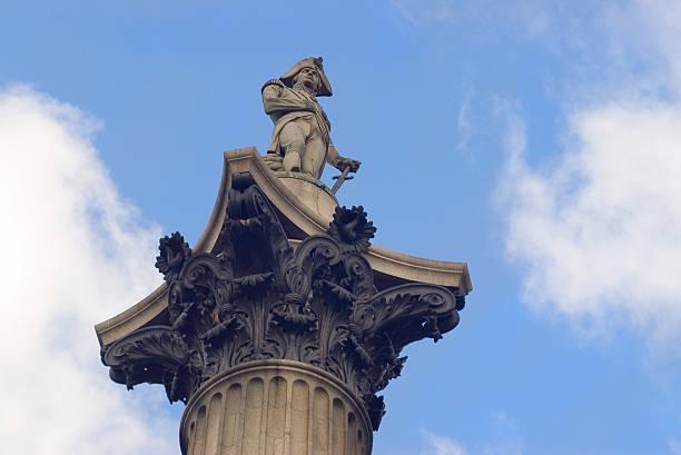 nelsons spalte nahaufnahme, london - imperialismus stock-fotos und bilder