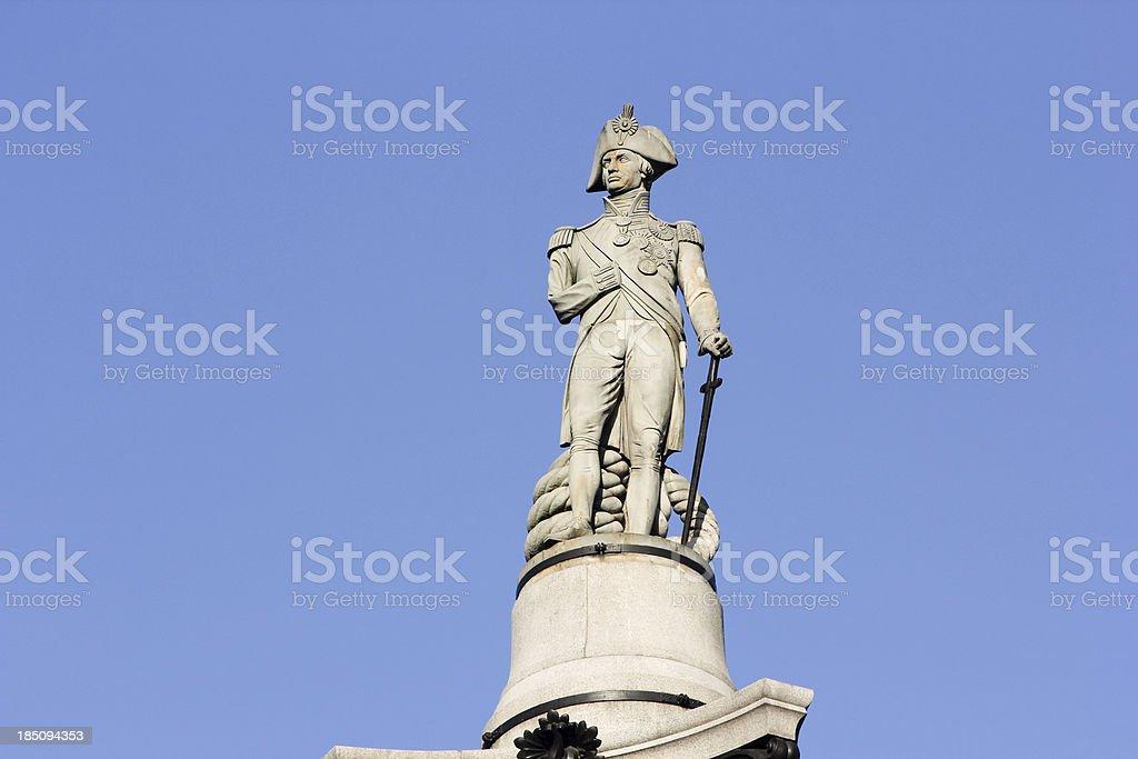 Nelson's Column in London, England stock photo