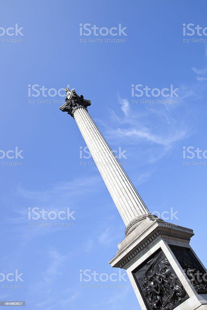 Nelson's Column in Trafalgar Square London royalty-free stock photo