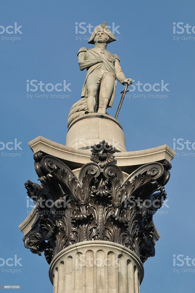 Nelson's Column, London, UK royalty-free stock photo