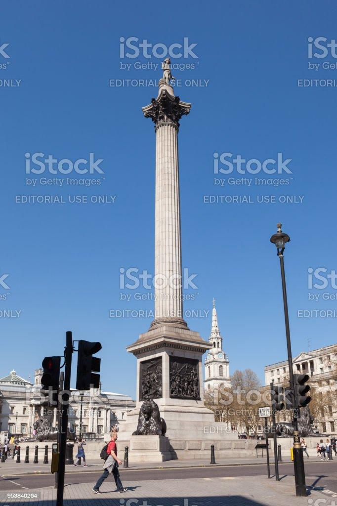 Nelson's Column. stock photo