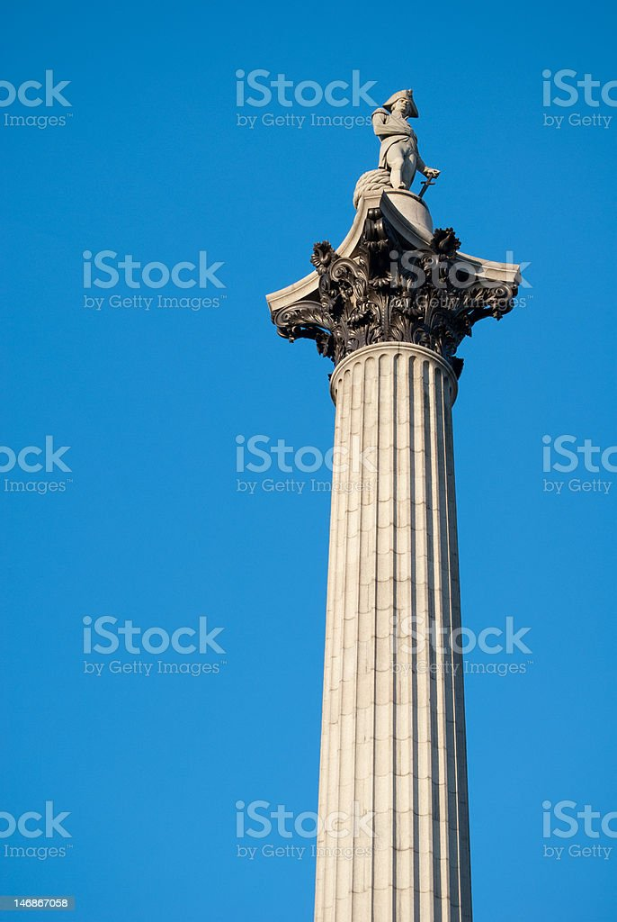 Nelson's column Trafalgar Square London stock photo