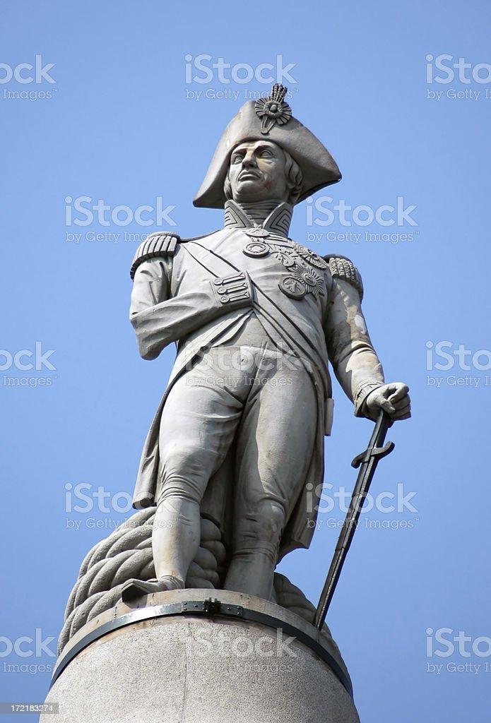 Nelsons Column, Trafalgar Square, London stock photo
