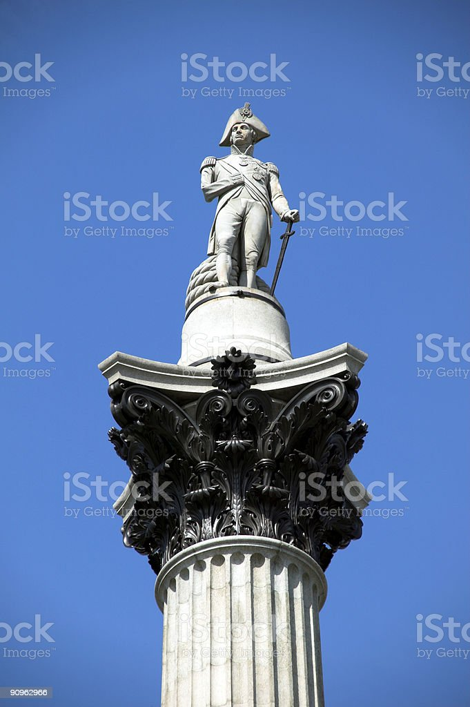 Nelson's Column, Trafalgar Square London royalty-free stock photo