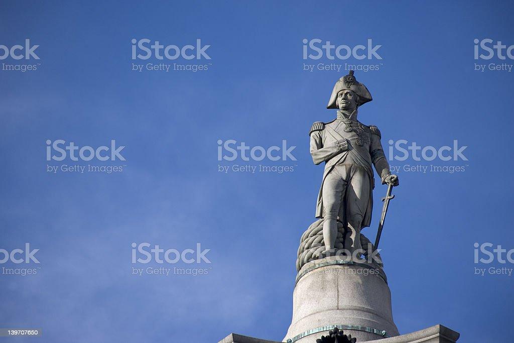 Nelsons Column, Trafalgar Square stock photo