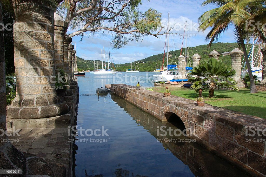 Nelson's Dockyard on Antigua stock photo
