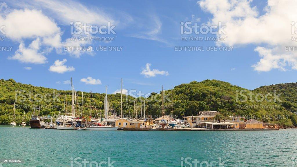 Nelsons Dockyard stock photo