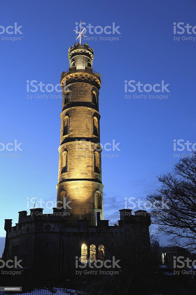 Nelson's Monument, Calton Hill, Edinburgh, Scotland, UK royalty-free stock photo