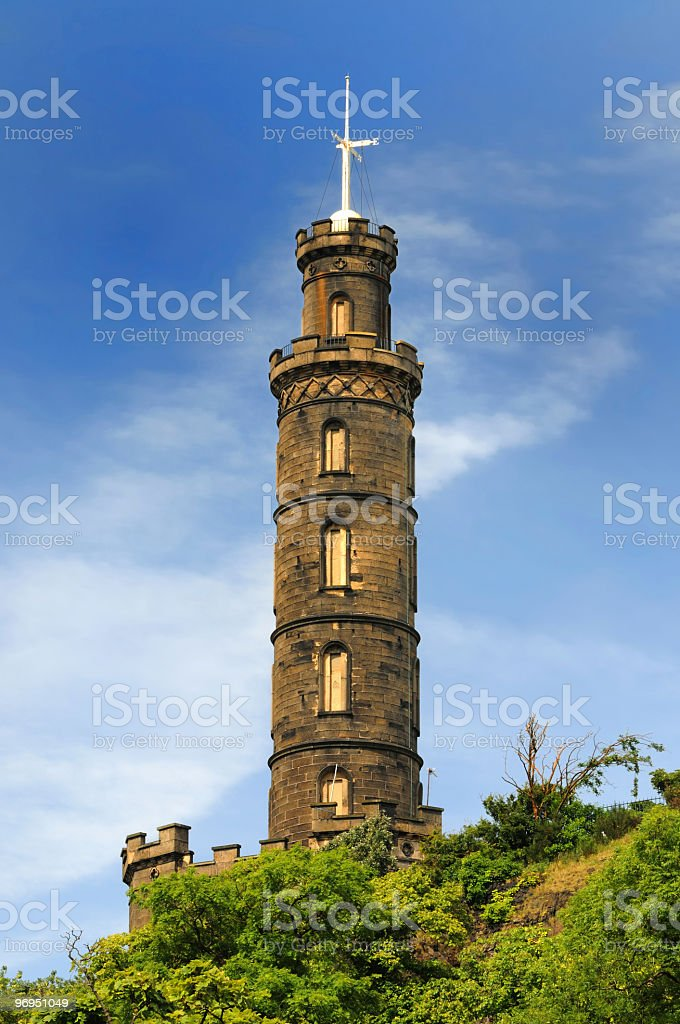 Nelson's Monument royalty-free stock photo