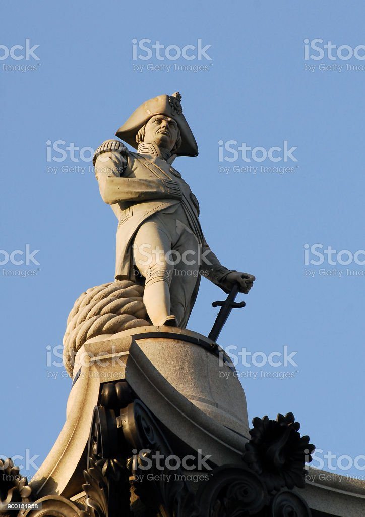 Nelson's statue stock photo