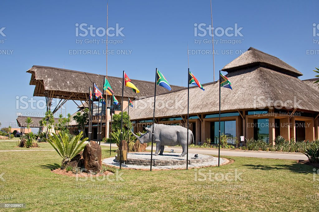 Nelspruit Mpumalanga airport terminal stock photo