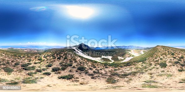 istock Nemrut Crater Mountain 360 degree view 929493652