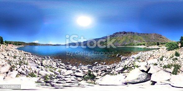 istock Nemrut Crater Mountain Big Lake 360 degree view 929498024