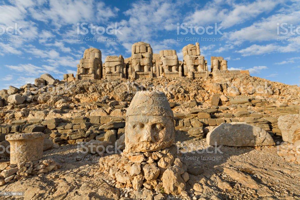 Nemrut Mountain, Adiyaman, Turkey. stock photo