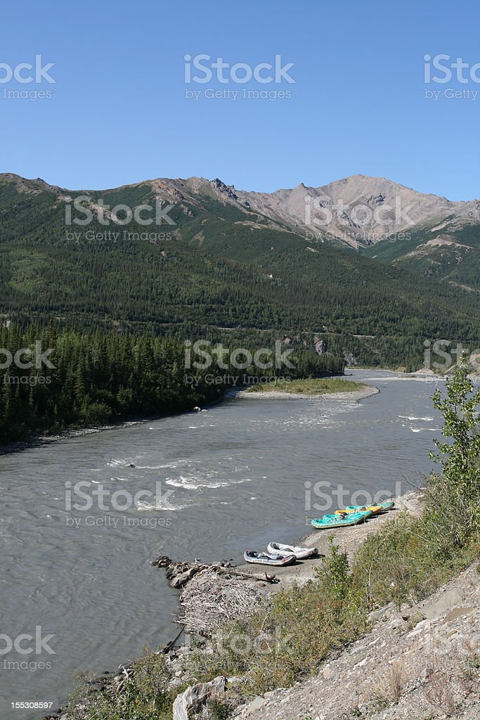 Nenana River Rafts stock photo