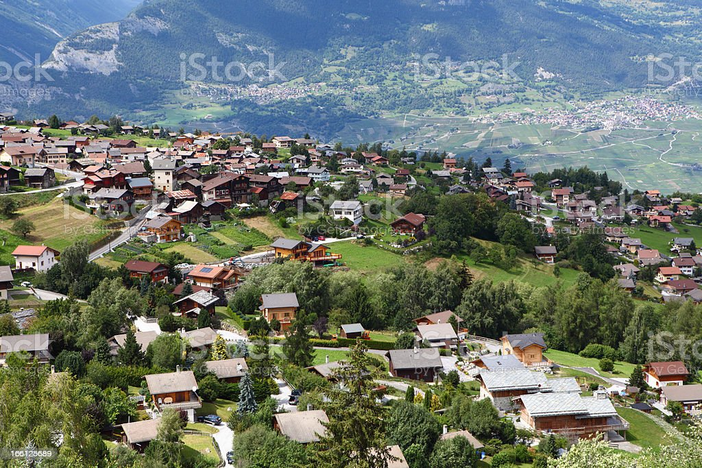 Nendaz Switzerland stock photo