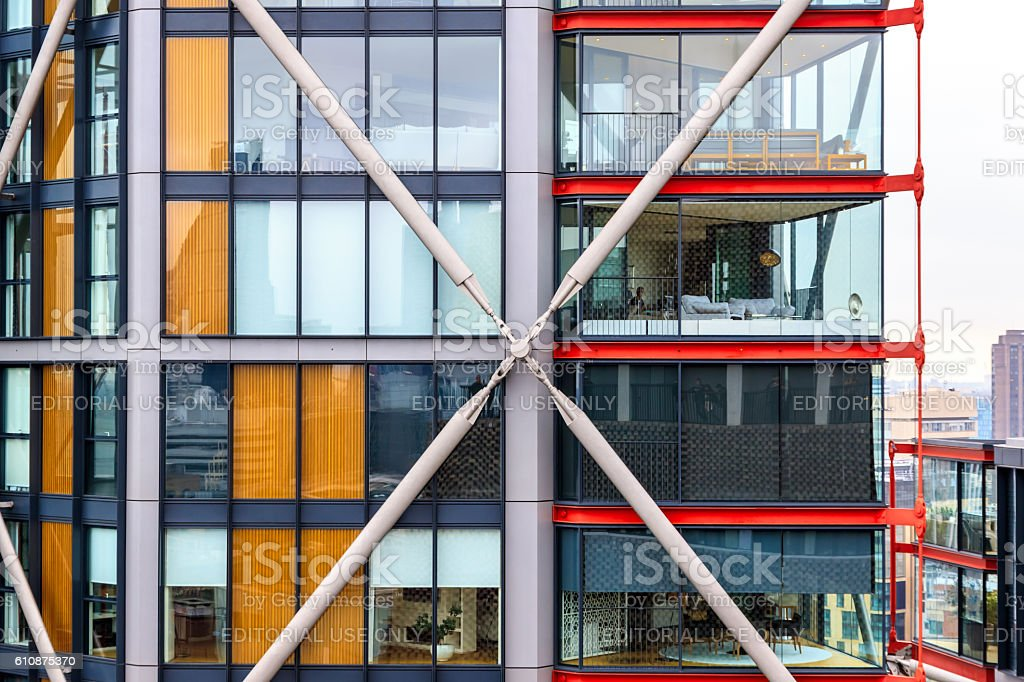Neo Bankside Building Next To Tate Modern stock photo