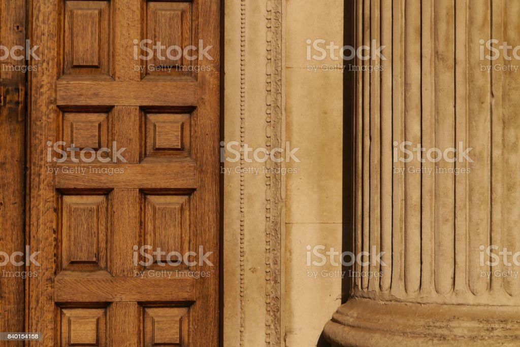 Neo classical door and column stock photo
