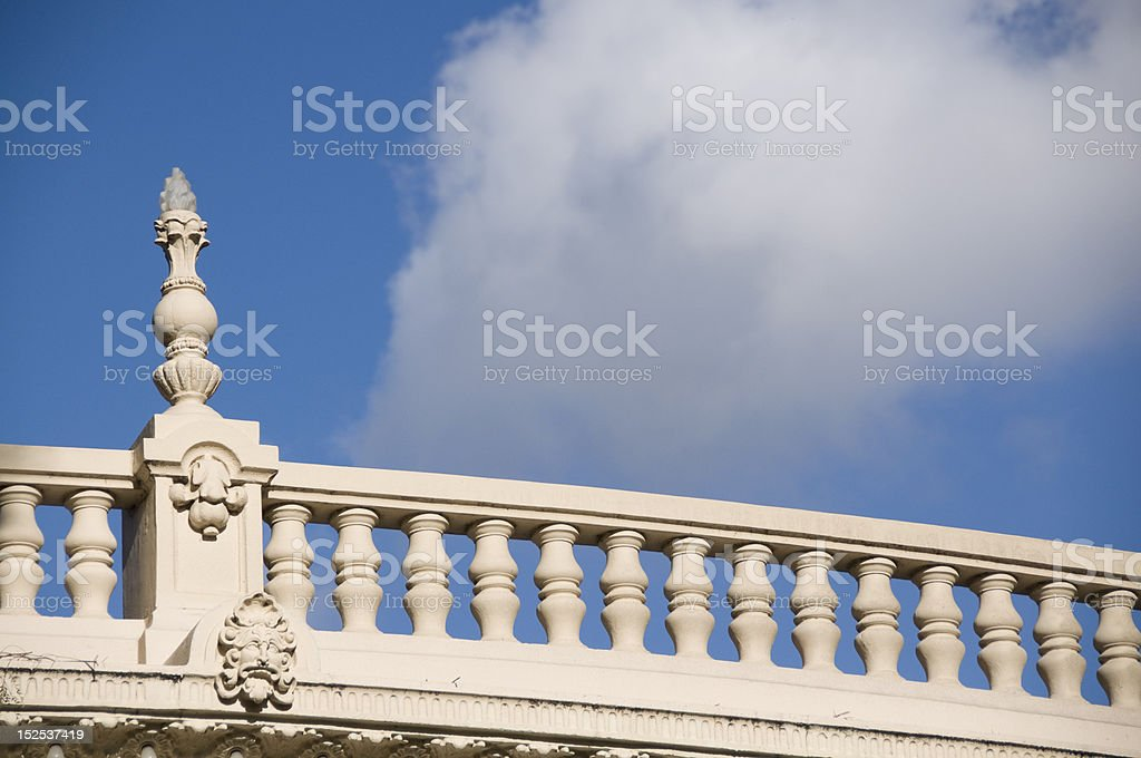 Neo classical railing royalty-free stock photo