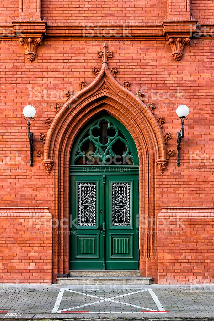 Neo Gothic Entrance Door Royalty Free Stock Photo
