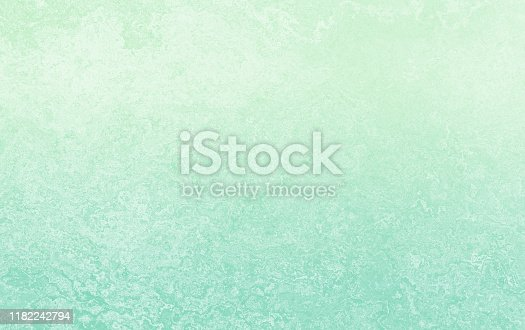 Neo New Mint Green Ombre Grunge Concrete Texture Solid Abstract Grainy Concrete Cement Chalk Plaster Marble Washi Paper Wave Sea Pattern Pastel Background Copy Space Toned Filter Photography