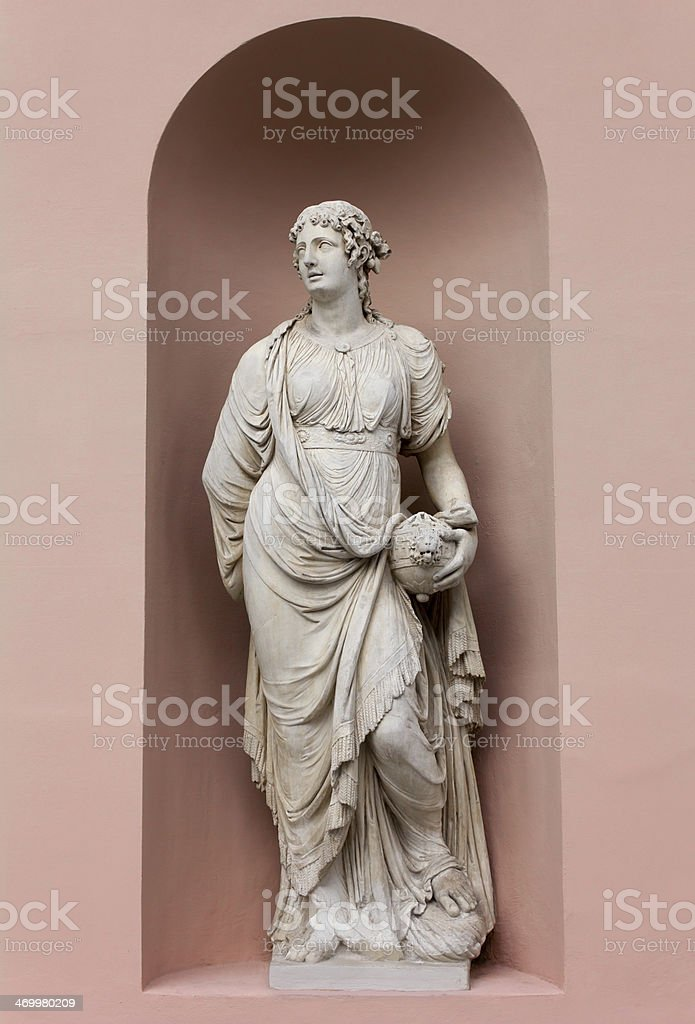 Neoclassic Marble Statue stock photo