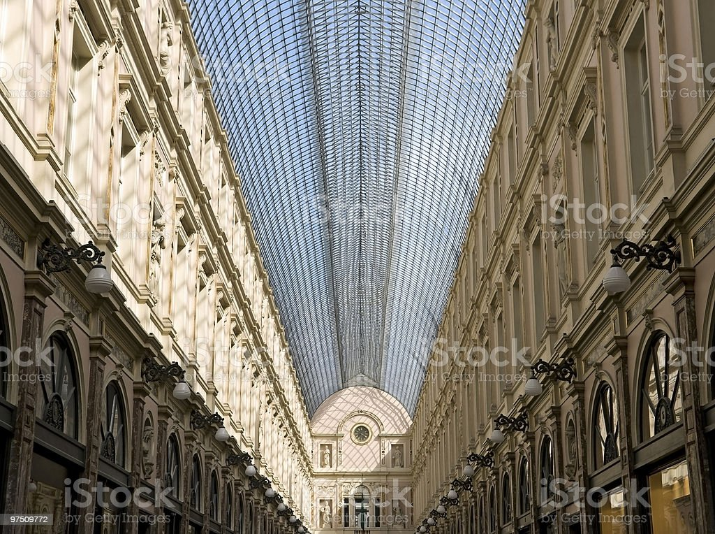 Neoclassic shopping gallery royalty-free stock photo
