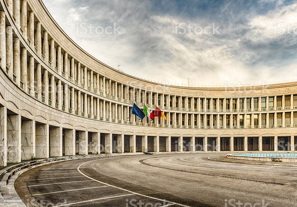 Neoclassical architecture in EUR district, Rome, Italy stock photo