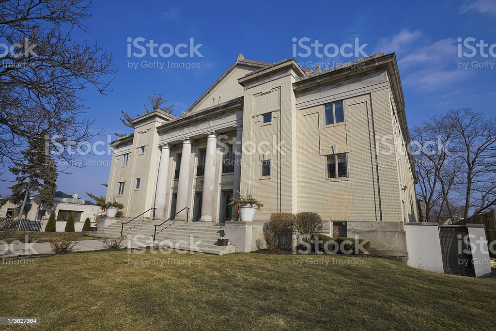 Neoclassical Building Chicago Far Southwest Side royalty-free stock photo
