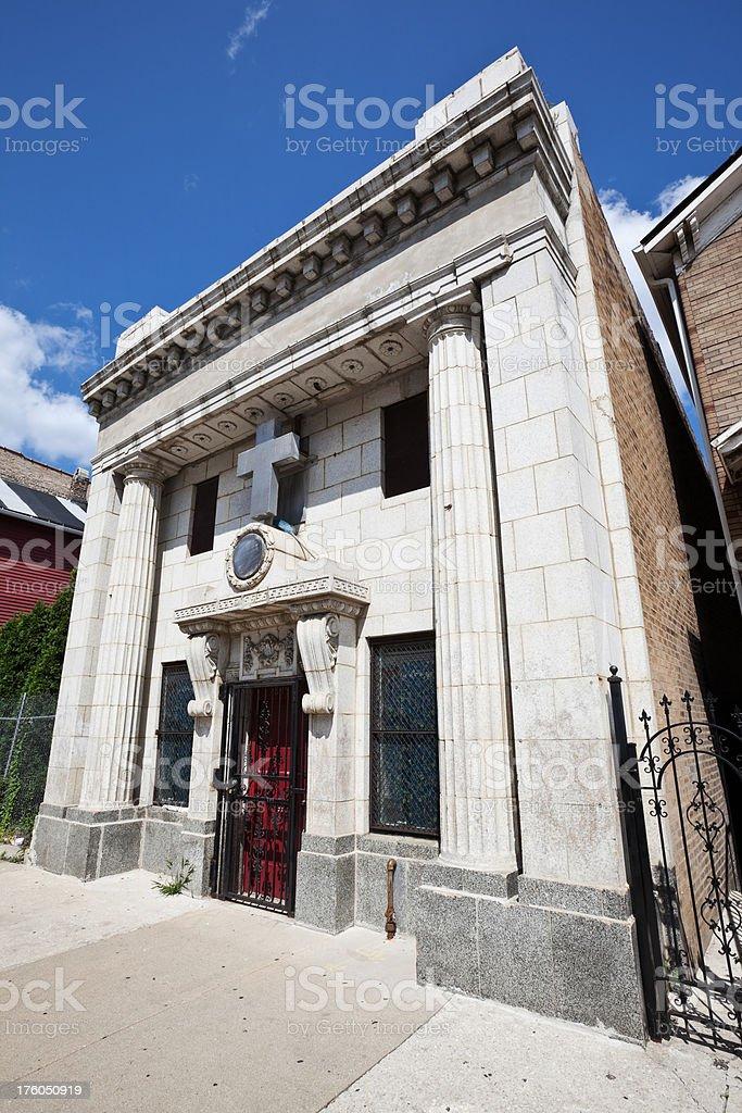 Neoclassical Chicago Neighborhood Church royalty-free stock photo