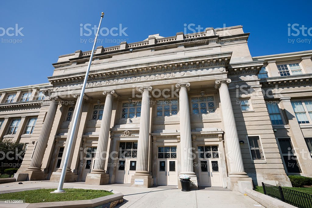 Neoclassical High School Architecture royalty-free stock photo