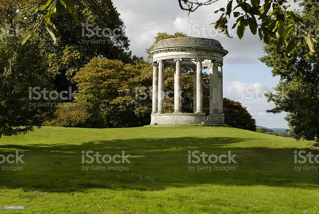 Neoclassical ornamental structure in country estate royalty-free stock photo