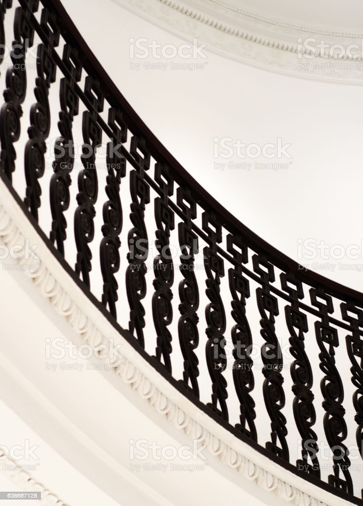 Neoclassical Period Stair Bannister stock photo