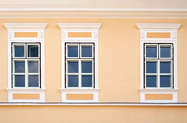 Neoclassical residence window stock photo