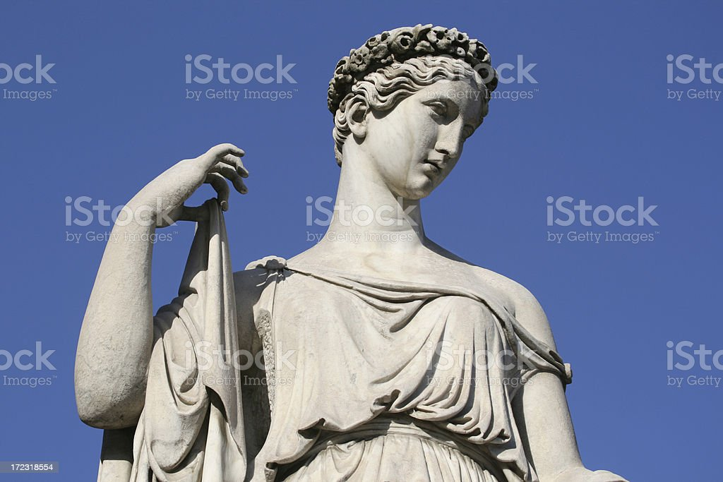 Neo-Classical sculpture of a women royalty-free stock photo