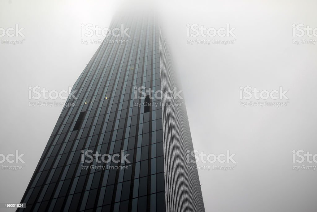 Neoclassical skyscraper tower stock photo