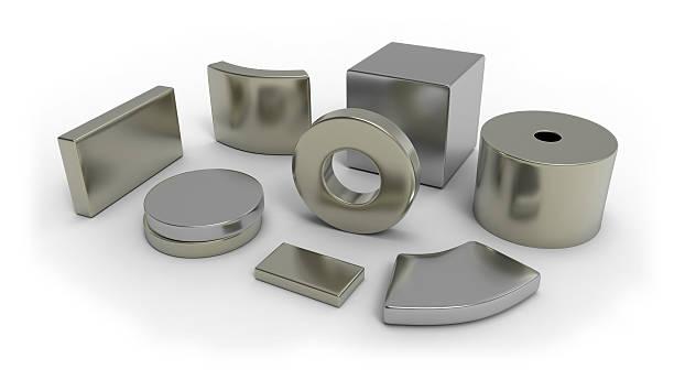 Neodymium magnets stock photo
