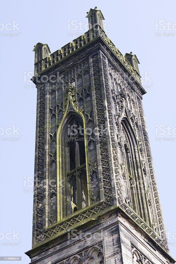 Neo-Gothic tower stock photo