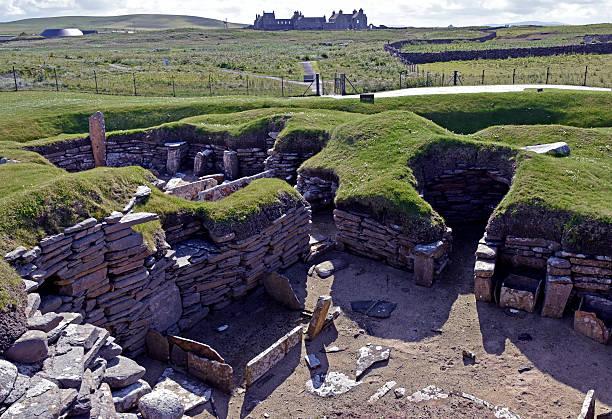 Jungsteinzeitdorf von Skara Brae Innenansicht – Foto