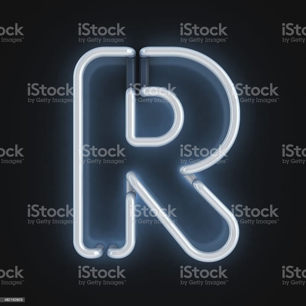 ... Neon 3d Font Letter R Stock Photo ...